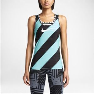 Nike Pro striped Racerback Tank Top 🏋️♀️